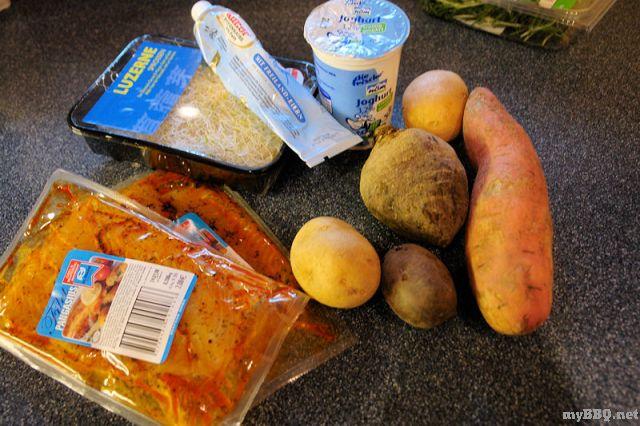 Aldi Gasgrill Forum : Pangasiusfilet mit bunten salat türmchen u2022 mybbq.net das forum